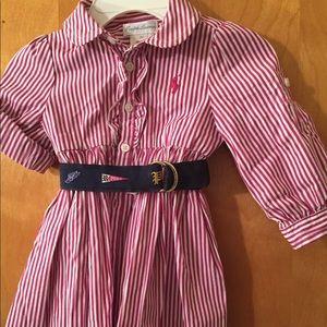 6 Mos Ralph Lauren cotton dress w roll up sleeves
